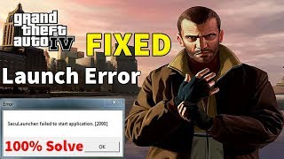 How To Fixed GTA 4 Launch Error 100% Working Method