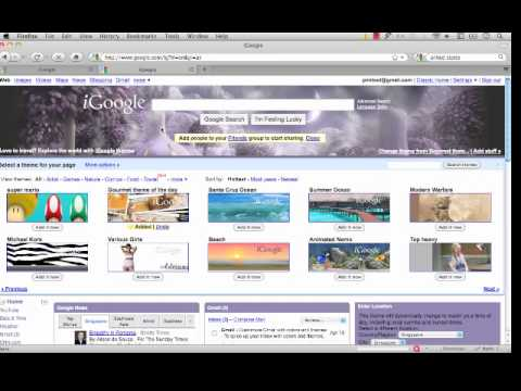 The iGoogle Online Tutorial Part 1