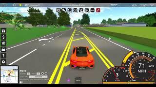 ROBLOX Ultimate Driving Simulator testing my new Acura car