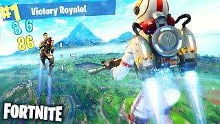 JETPACK GAMEPLAY !! INFINITE FLYING & JUMP | Fortnite Pt.8 [Duo Squad Mode] New Cheat Item