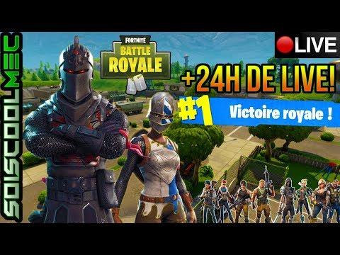 Live +24H! Fortnite Battle Royal! TheKAIRI78 Est Passé Sur Mon Live!!! 68 TOP 1! Go 27K! ^^
