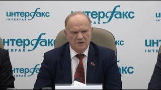 Пресс-конференция П.Н. Грудинина и  Г.А. Зюганова (Москва, 19.03.2018)