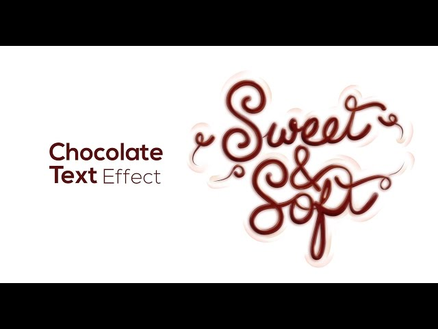 Chocolate Text Effect - Adobe Illustrator/Photoshop