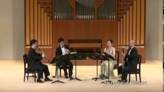 "W.A.Mozart "" Quartet KV.172""   4th movt.  Allegro assai  /   Clarinet Quartet Ensemble Sonorité"