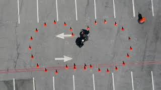 How a Motorcycle Cop does the Figure 8 exercise.