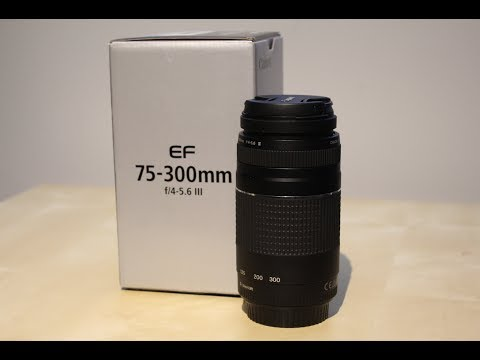 Unboxing: Canon EF 75-300mm f/4-5.6