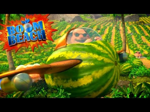 "Boom Beach Animation ""Return of Dr. T's Mega Crab!"" Dr. T's MELON AIRPLANE"