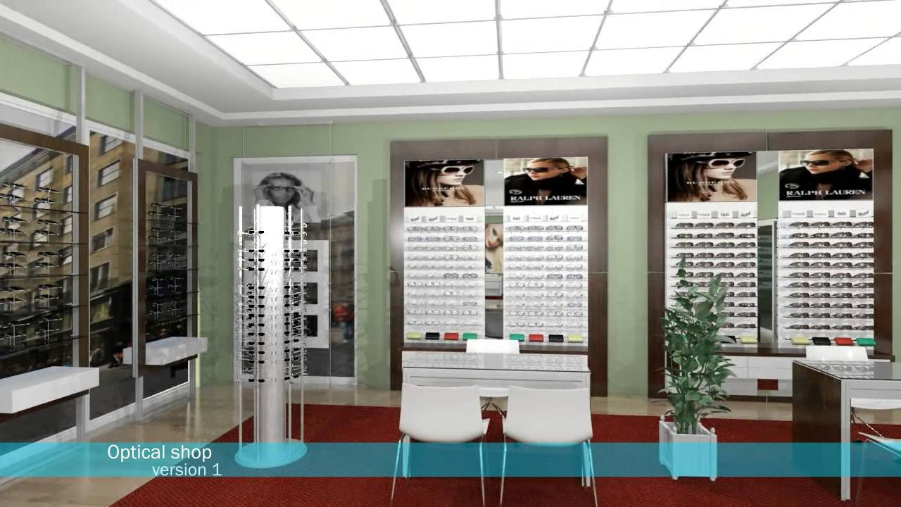 Optical shop version 1 youtube for Optical store designs interior