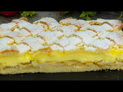 Una vera delizia: torta di mele e budino alla vaniglia!  | Saporito.TV