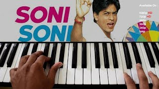 Soni Soni Akhiyon Wali - Mohabbatein Hindi Piano/Keyboard Tutorial - Pianobajao