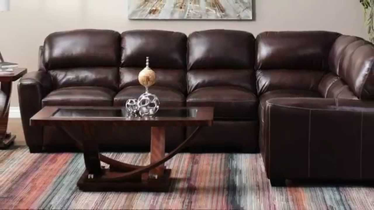 Jerome S Furniture Tuscany Leather Sectional Youtube
