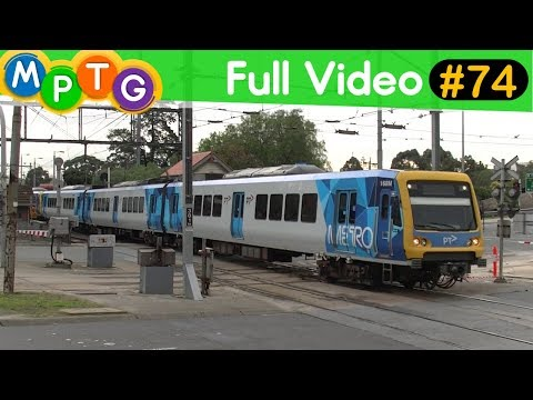 Metro Trains & Trams at Gardiner Tram & Station before major works (Full Video #74)