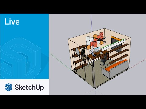 Modeling a Home Office with Live Components Live in SketchUp