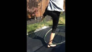Hula hooping on the tramp part 1