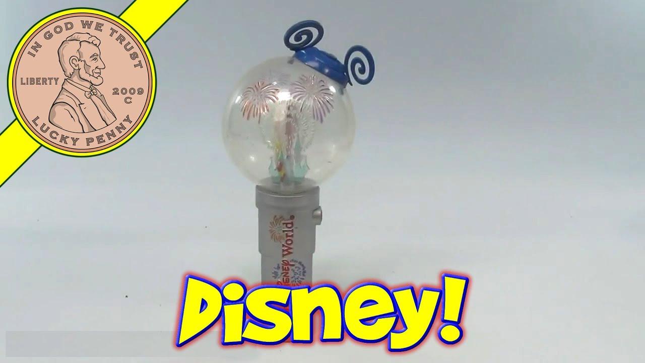 Walt Disney World Mickey Mouse Light Up Spinning Globe