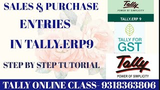 SALES & PURCHASE ENTRIES IN TALLY.ERP9/S.NO-4