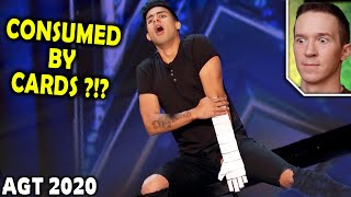 Magician REACTS to Winston INCREDIBLE card tricks on AGT 2020