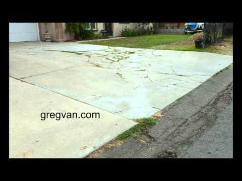 How to pour a concrete driveway funnycat tv for How to pour a concrete driveway