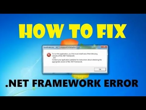 How To Fix Net Framework Initialization Error In Windows 7 | Quick & Easy Method