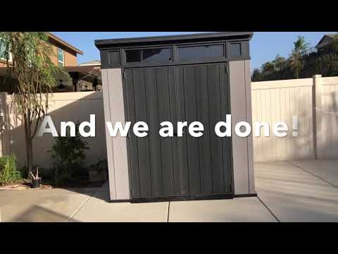 Costco Keter 7x7 Artisan DuoTechco Shed. Building our shed in timelapse.| Build with us!