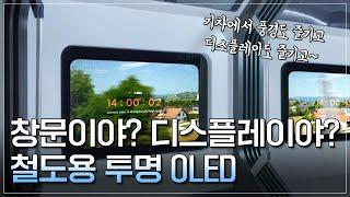 투명 OLED 이번엔 철도다!!  [LGD 인사이드]