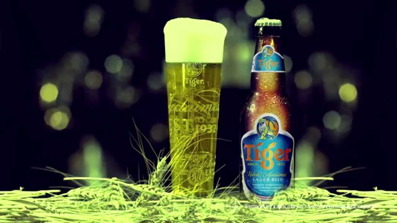 What is the percentage of sugar in tiger beer and carlsberg beer?