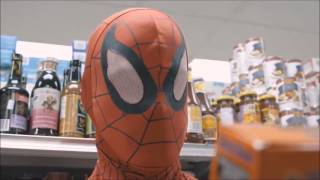 Everytime Spiderman goes shopping, this happens.