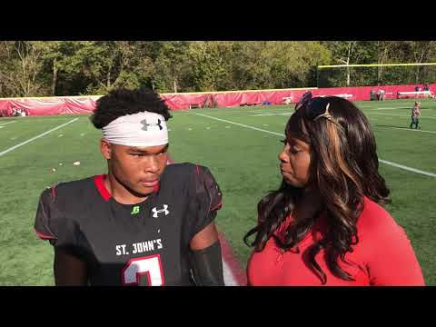 St Johns RB Ron Cook Post game interview after win over DeMatha 38-22