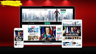 Zox News Wordpress Theme Review & Demo   Professional WordPress News & Magazine Theme   Zox News Price & How to Install