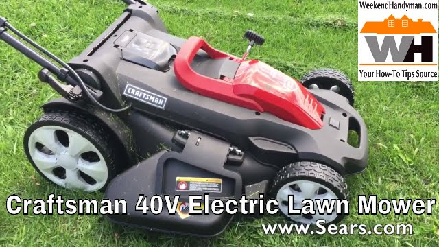 Sears Craftsman 40v Cordless Electric Lawn Mower Weekend