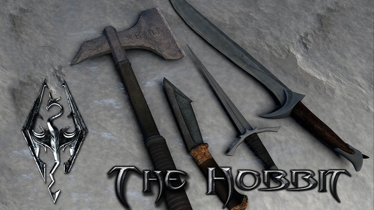 skyrim lotr weapons how to get
