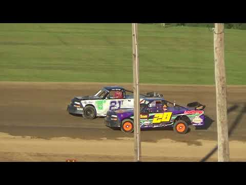 Pro Truck Heat Race at Crystal Motor Speedway on 07-07-2018