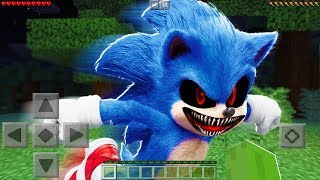 I FOUND SONIC EXE in Minecraft Pocket Edition at 3AM!