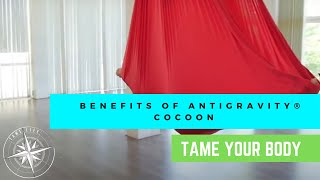 ANTIGRAVITY® BENEFITS OF THE POSE - COCOON - TAME LIFE