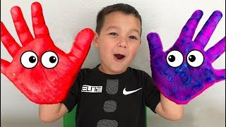 Colors Song - Learn Colors for kids with Hand Painting
