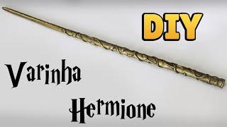 DIY: COMO FAZER VARINHA INSPIRADA NA HERMIONE - Harry Potter Wands Tutorial #diyhp