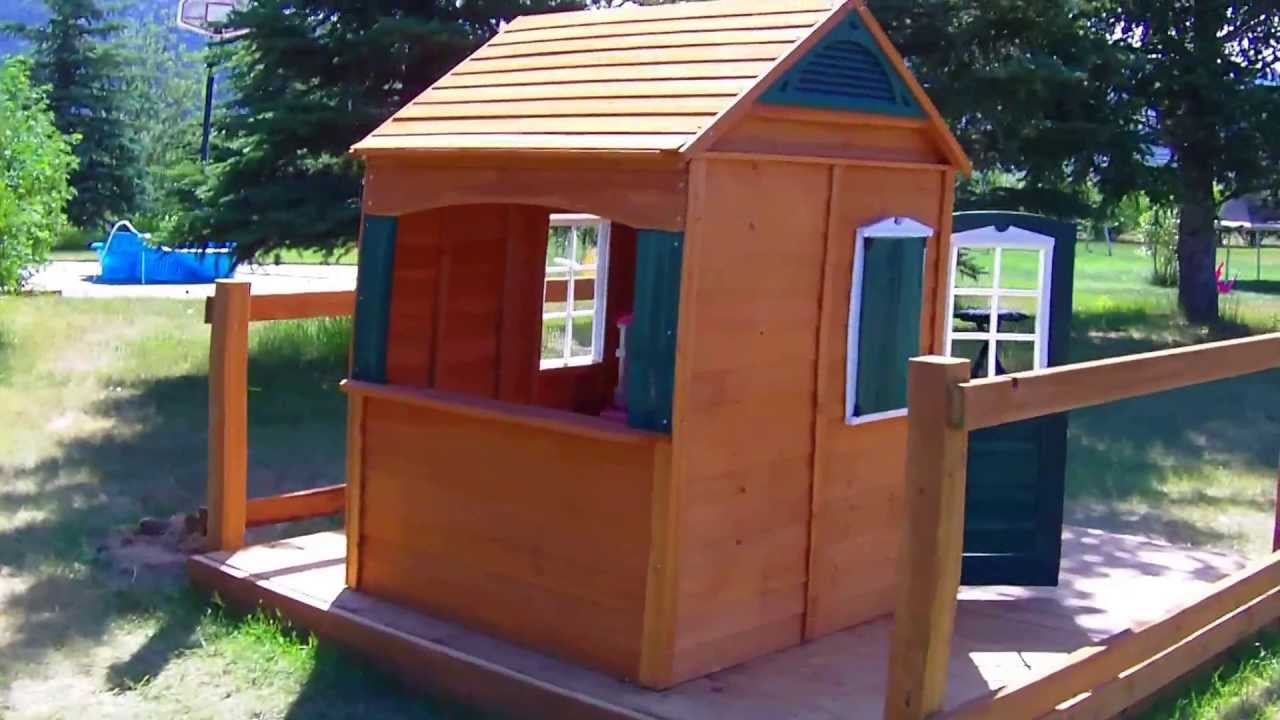 Big Backyard Bayberry Ready To Assemble Wooden Playhouse Review   YouTube