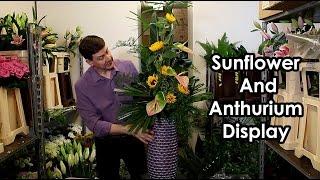 Download lagu Tall Front Facing Buffet Arrangement - Sunflower , Anthurium -