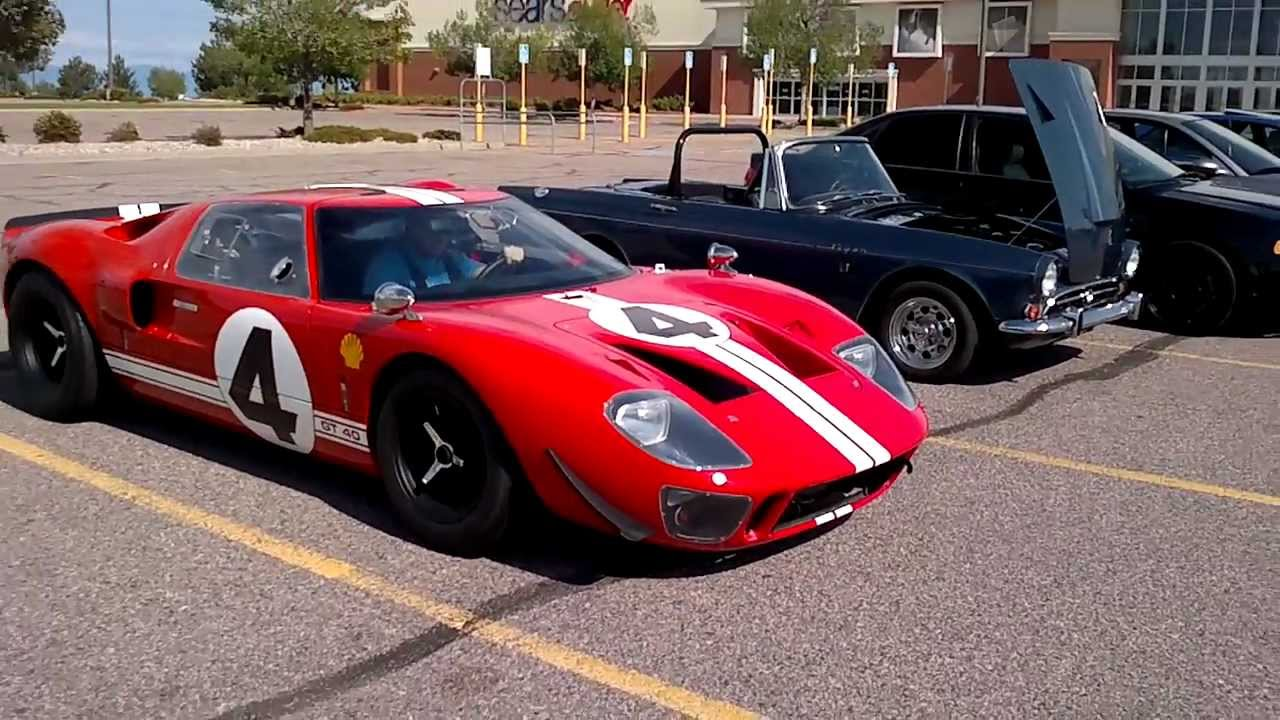 Ford Gt Replica Start Up Leaving Accelerating Part