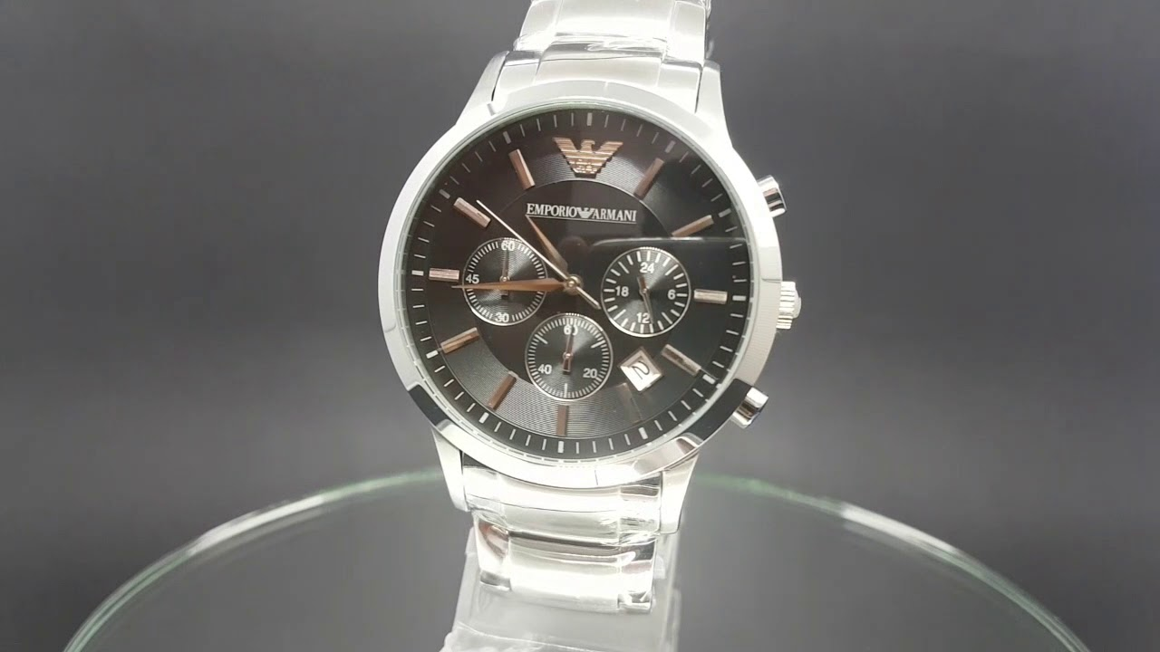 190f2c33fe38a Relógio Emporio Armani AR2434 Dial Preto - YouTube