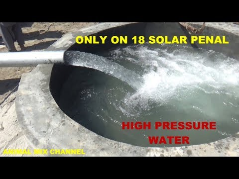 Solar Tube Well System 15 Hp Motor 18 Solar penal Delivery 5 inch inverter 11 Kw