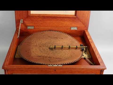 """Regina 14.5"""" Disc Music Box, Ca. 1900"""
