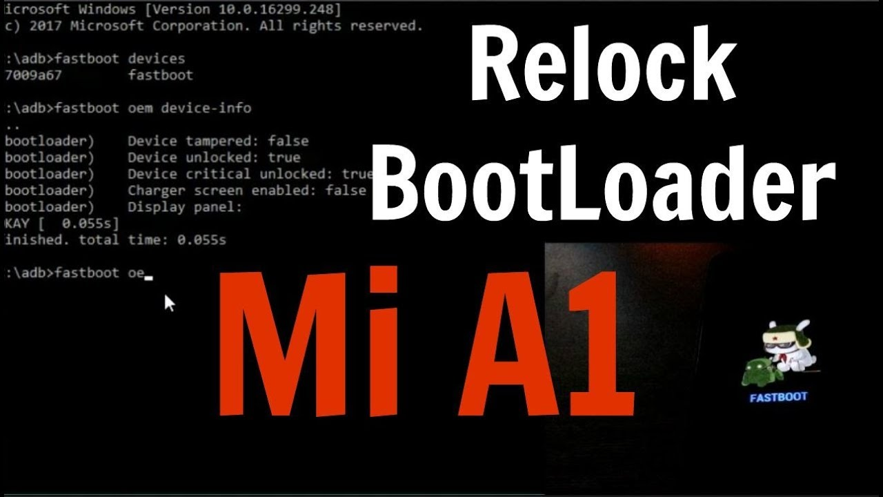 RELOCK Bootloader in Mi A1 in 30 SECONDS Without Losing Data - [EASY GUIDE]