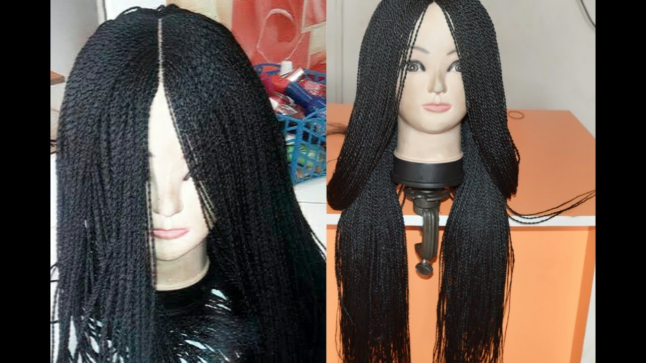 How To Make A Million Braid Wig Without Closure From Start To Finish    Beauty Hauljj 495a5e16b