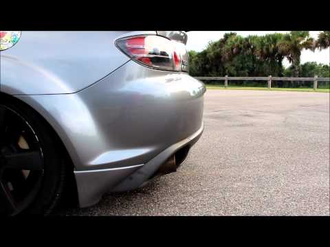 rx8 with headers straight pipe and cat back exhaust Videos