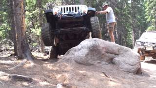 JK Wrangler eagle rock trail Colorado, no flex
