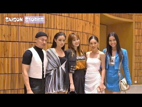 Minh Hằng và team The Face đi ủng hộ Trương Thanh Long ra mắt BST cực ĐỘC LẠ