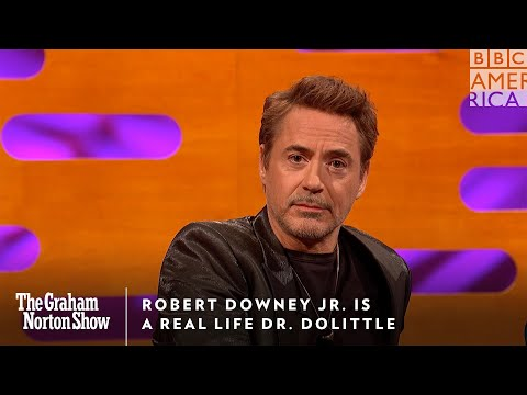Robert Downey Jr. is a Real Life Dr. Dolittle | The Graham Norton Show | Friday @ 11pm | BBC America