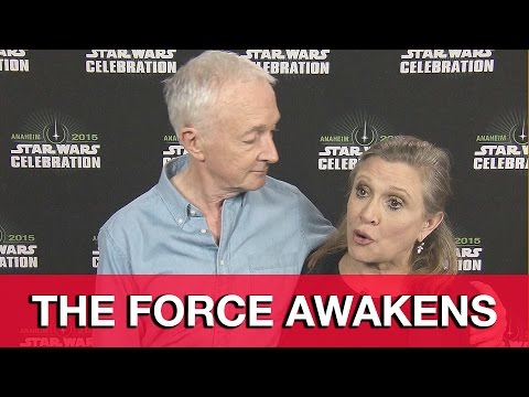 Star Wars The Force Awakens Interview - Carrie Fisher & Anthony Daniels