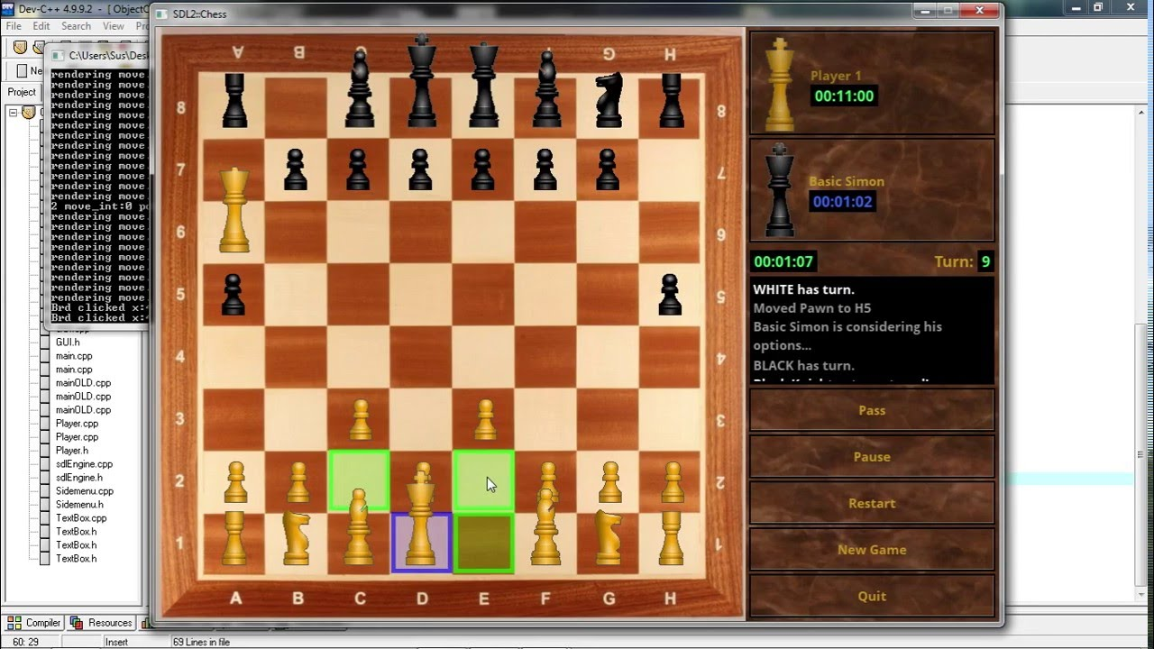 Chess game Demo - SDL2 learning project